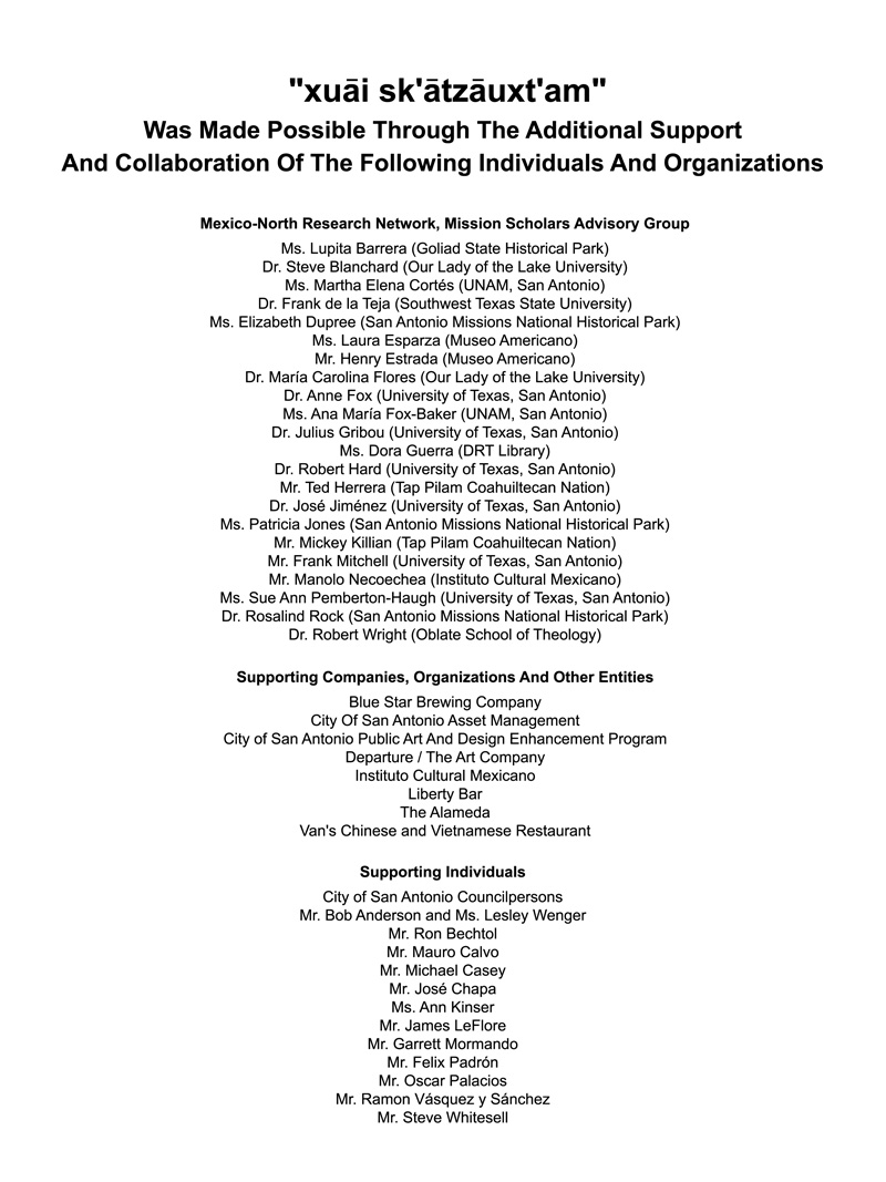 2001_Mission-Dream-Exhibit_International-Center_Acknowledgements