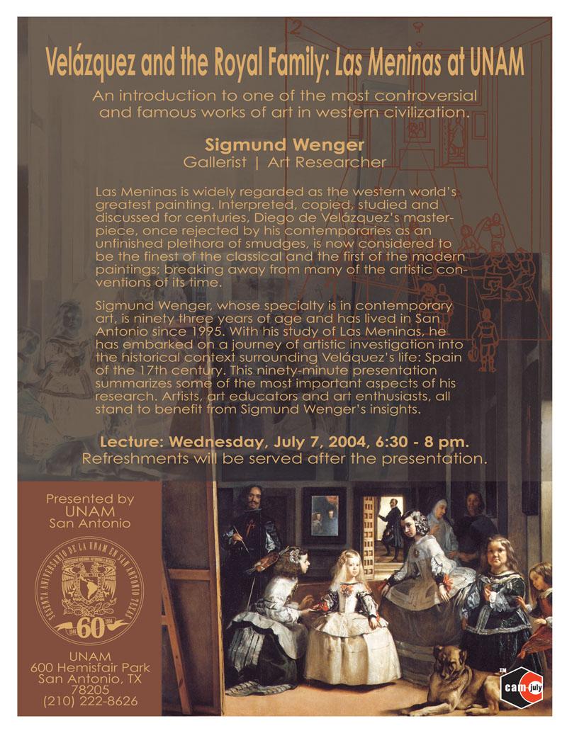 2004_Sigmund-Wenger_Las-Meninas-Lecture