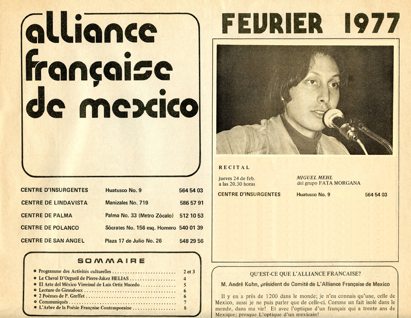 1977_Michael-Mehl-Recital_Alliance-Francaise-Mexico