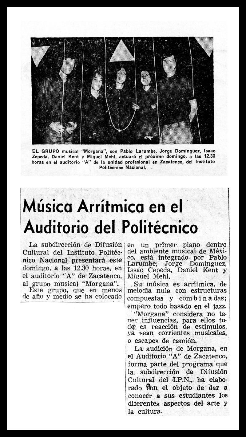 1973_Novedades-El-Universal_Michael-Mehl_Morgana_Politecnico