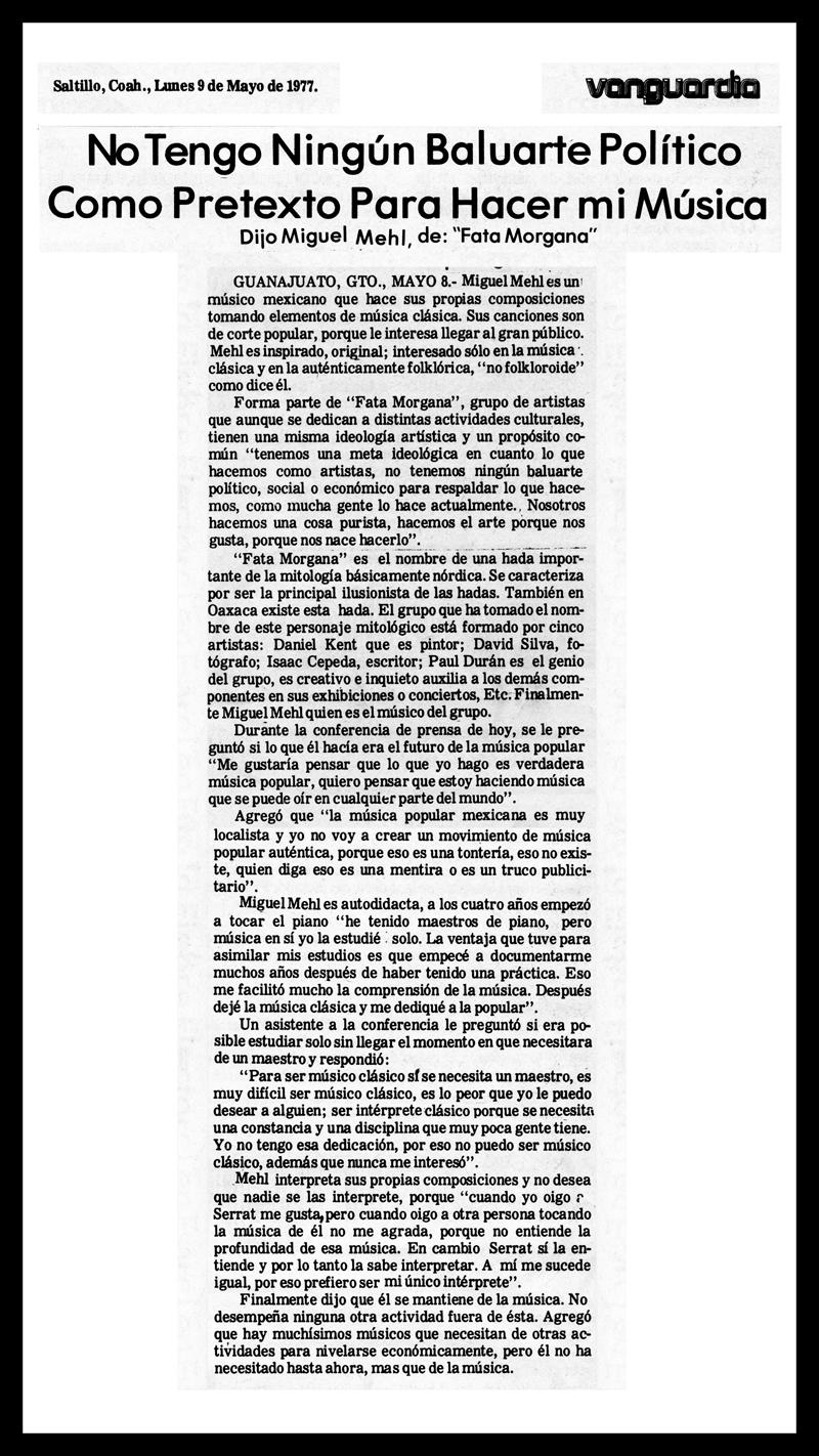 1977_Vanguardia_Michael-Mehl_Fata-Morgana_Quinto-Festival-Cervantino
