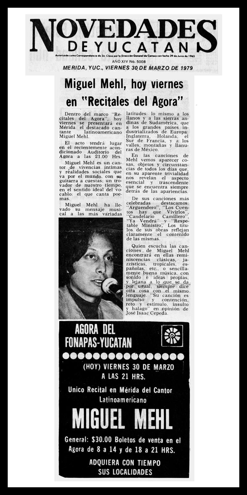 1979_Novedades-De-Yucatan_Michael-Mehl_Fonagora-Concert