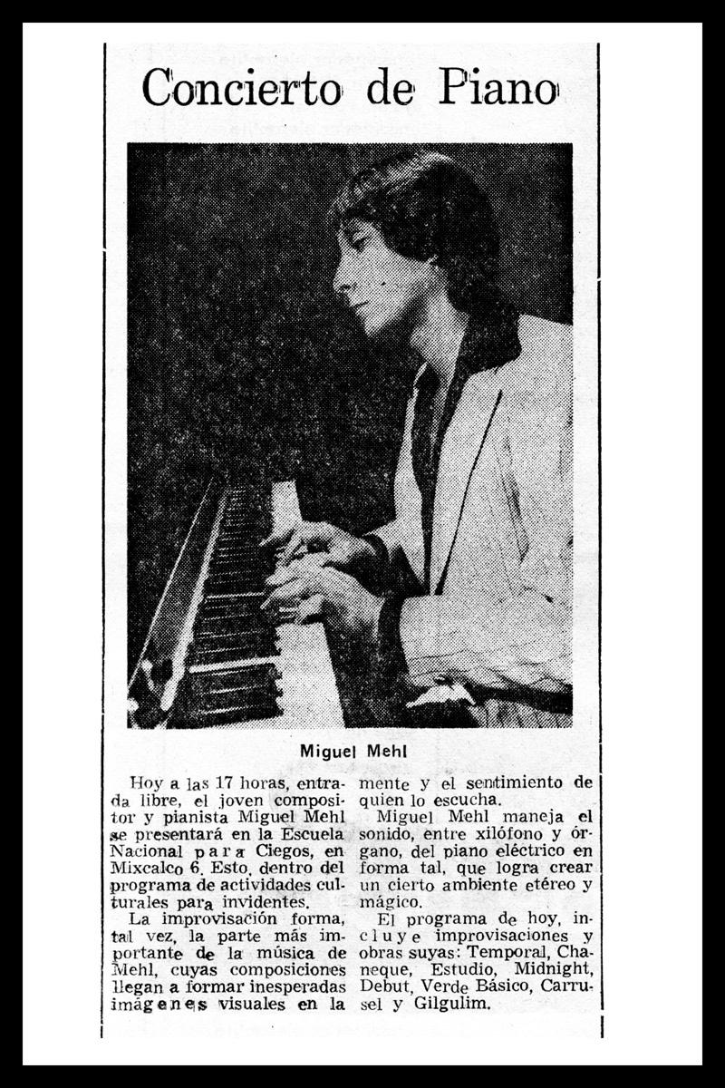 1980_El-Universal_Michael-Mehl_Escuela-Nacional-De-Ciegos-Concert