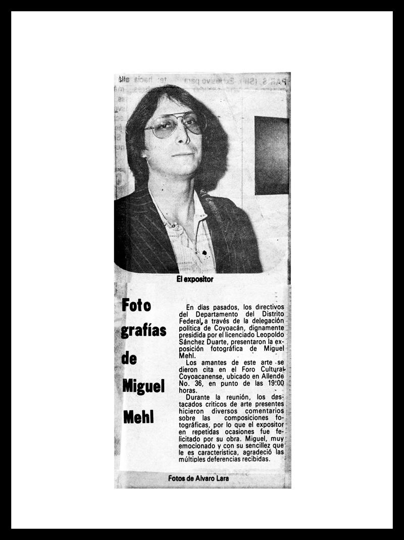 1981_El-Heraldo_Michael-Mehl_Foro-Coyoacan-Exhibit