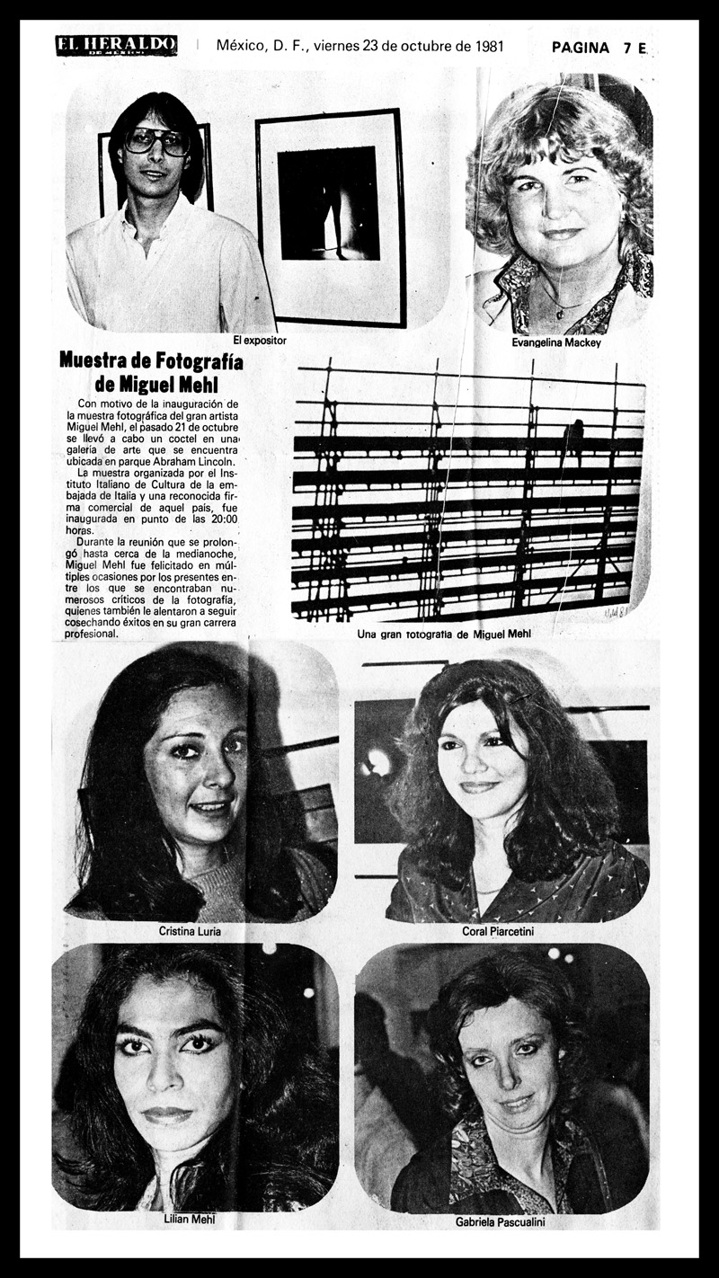 1981_El-Heraldo_Michael-Mehl_La-Calor-Exhibit_Centro-Olivetti