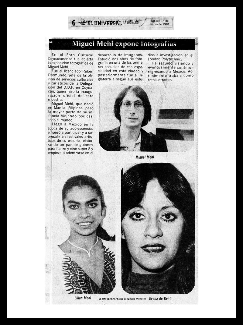 1981_El-Universal_Michael-Mehl_Foro-Coyoacan-Exhibit