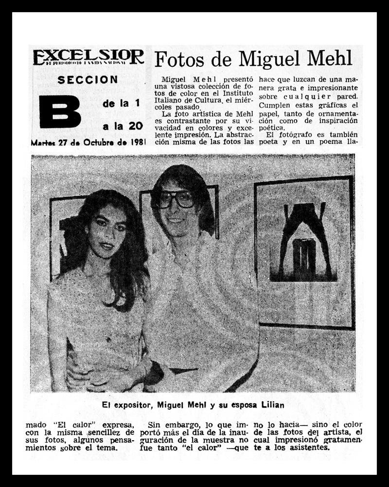 1981_Excelsior_Michael-Mehl_La-Calor-Exhibit_Centro-Olivetti