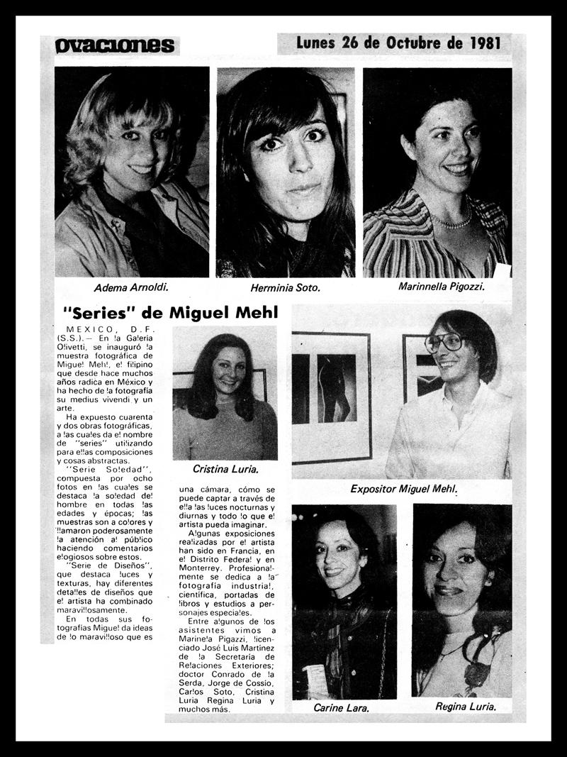 1981_Ovaciones_Michael-Mehl_La-Calor-Exhibit_Centro-Olivetti