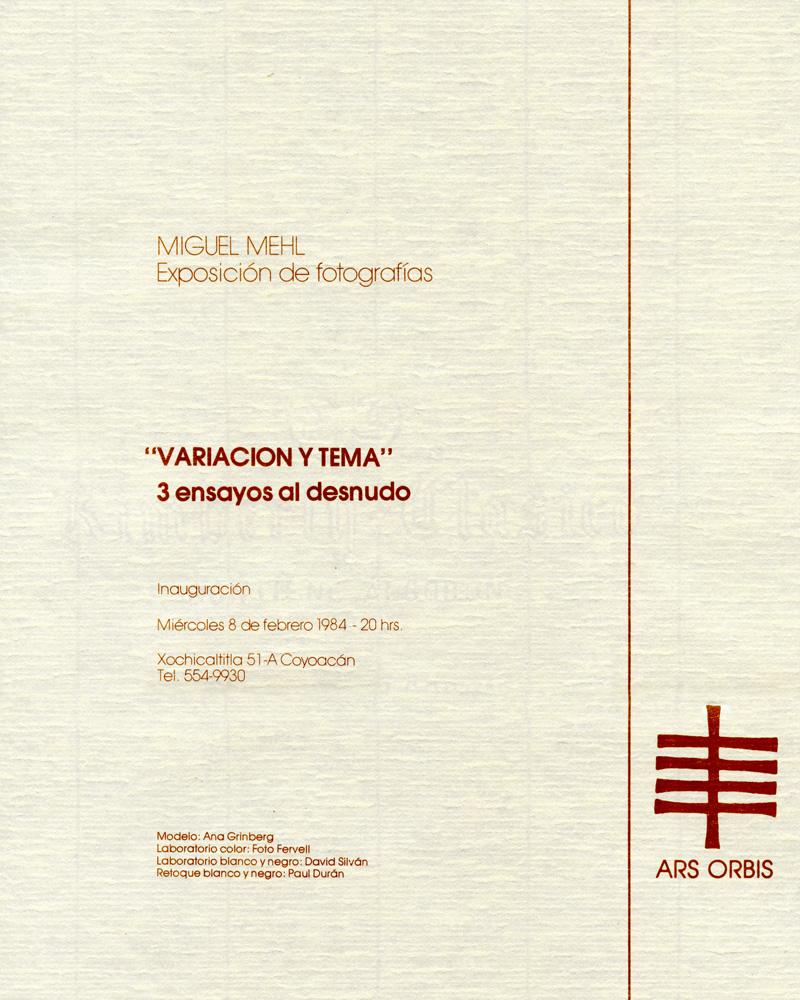 1984_Michael-Mehl_Variacion-Y-Tema-Exhibit_Ars-Orbis_Mexico