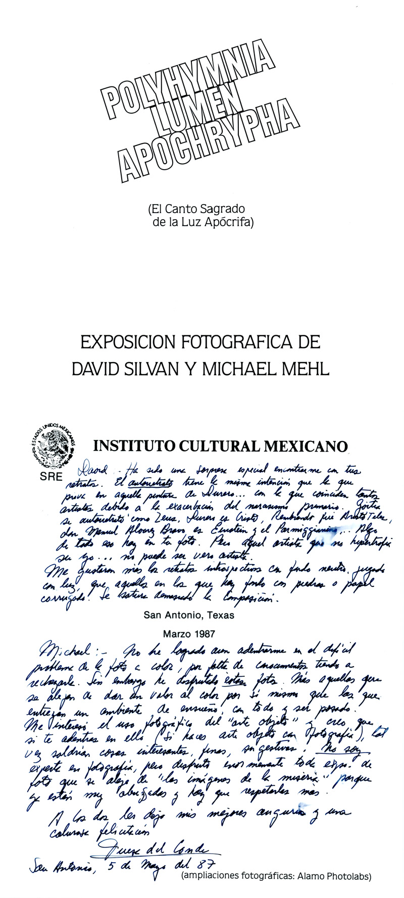 1987_Michael-Mehl-&-David-Silvan_Polyhymnia-Exhibit_Teresa-Del-Conde-Text