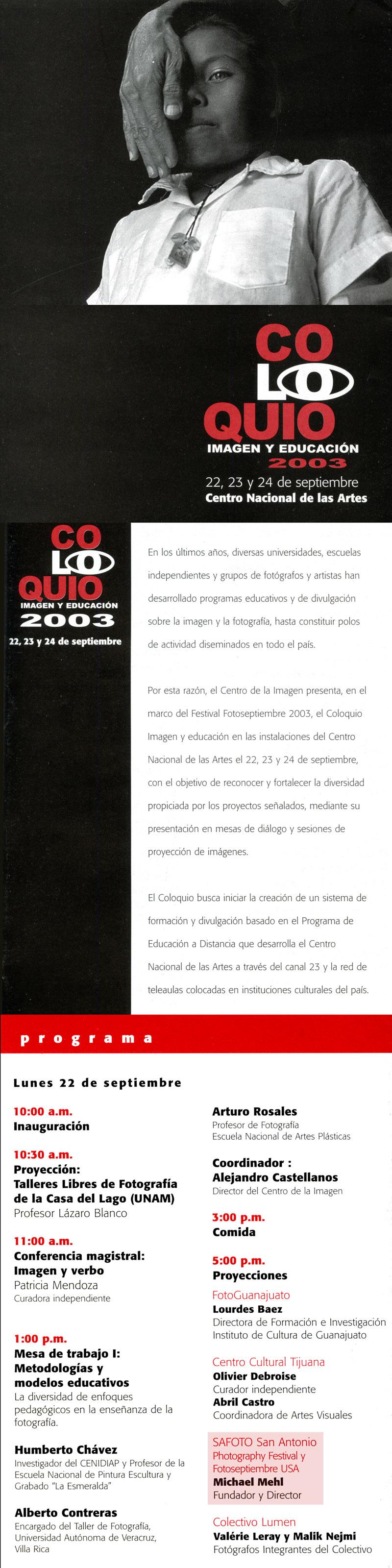 2003_Coloquio-Imagen-Y-Educacion_Mexico