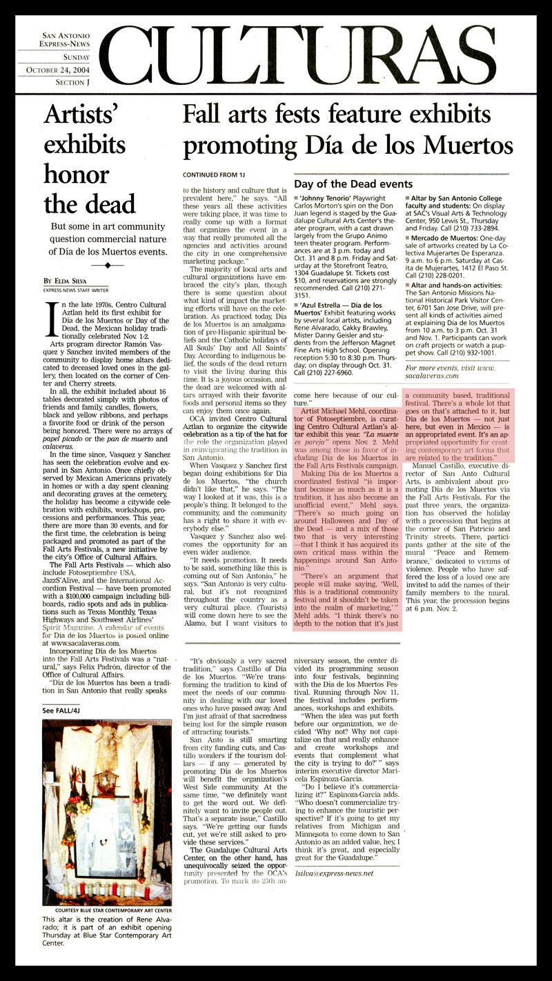 2004_Michael-Mehl_Express-News_Dia-De-Los-Muertos_Fall-Art-Festivals