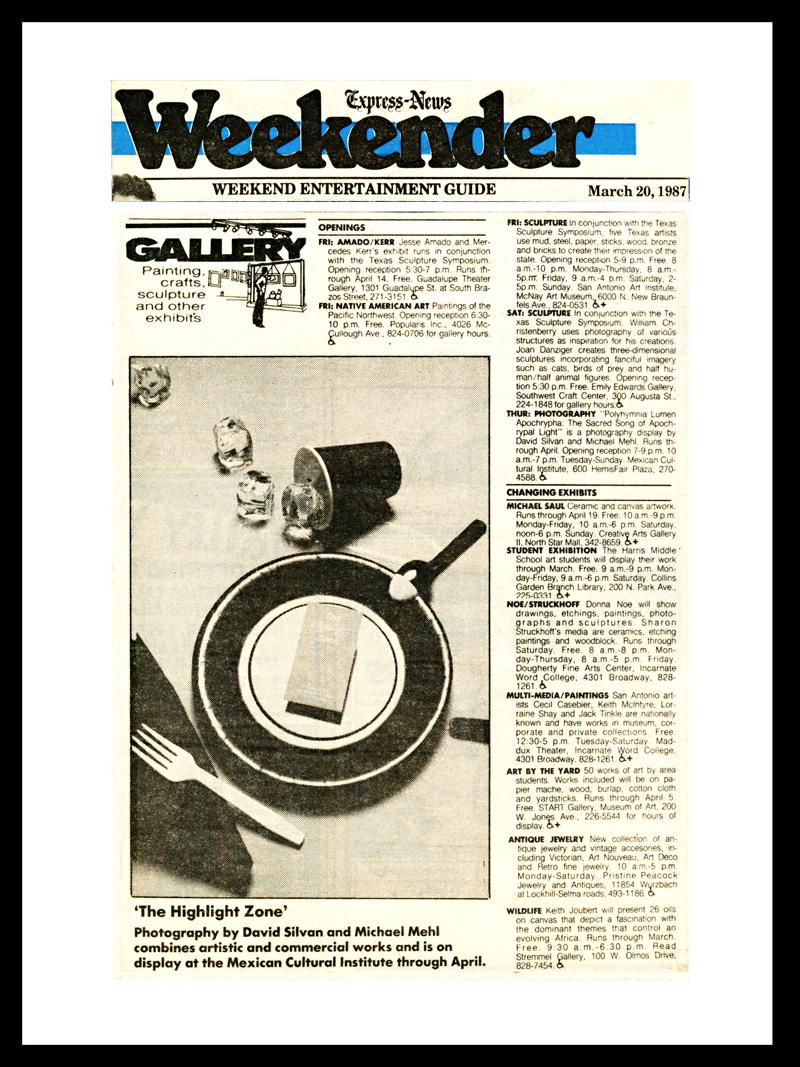 1987_San-Antonio-Express-News-Weekender_Michael-Mehl_Polyhymnia-Exhibit_ICM