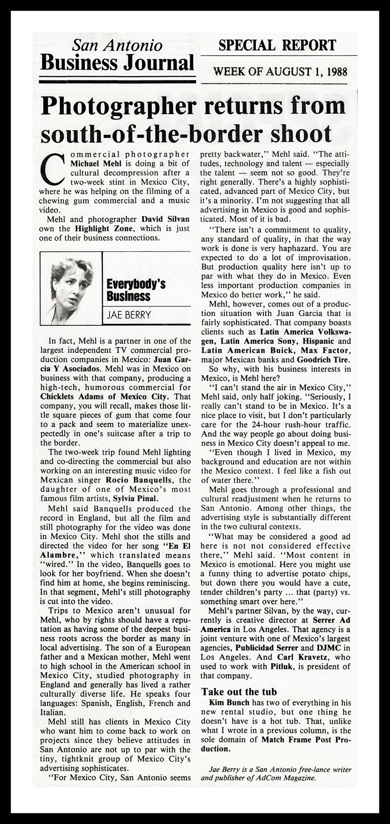 1988_Michael-Mehl_San-Antonio-Business-Journal_Jae-Berry_Everybody's-Business