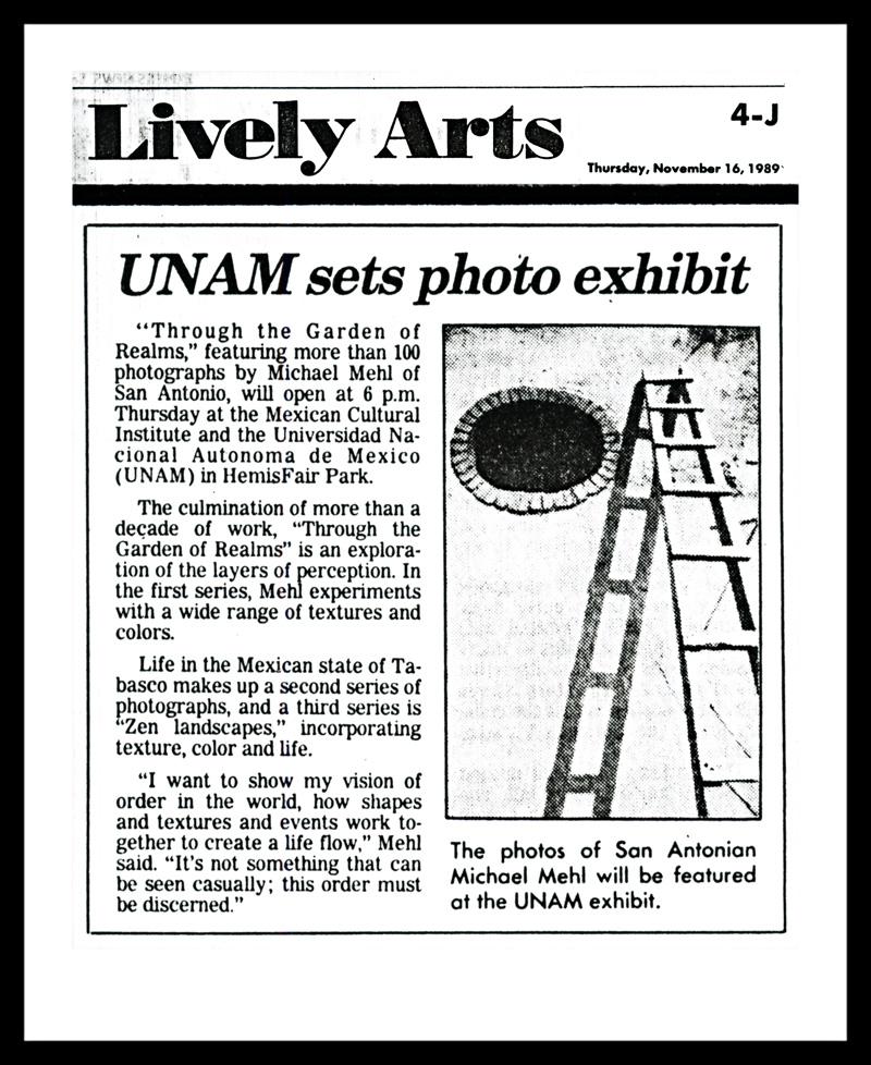 1989_San-Antonio-Express-News_Michael-Mehl-Garden-Of-Realms-Exhibit_ICM-UNAM_02