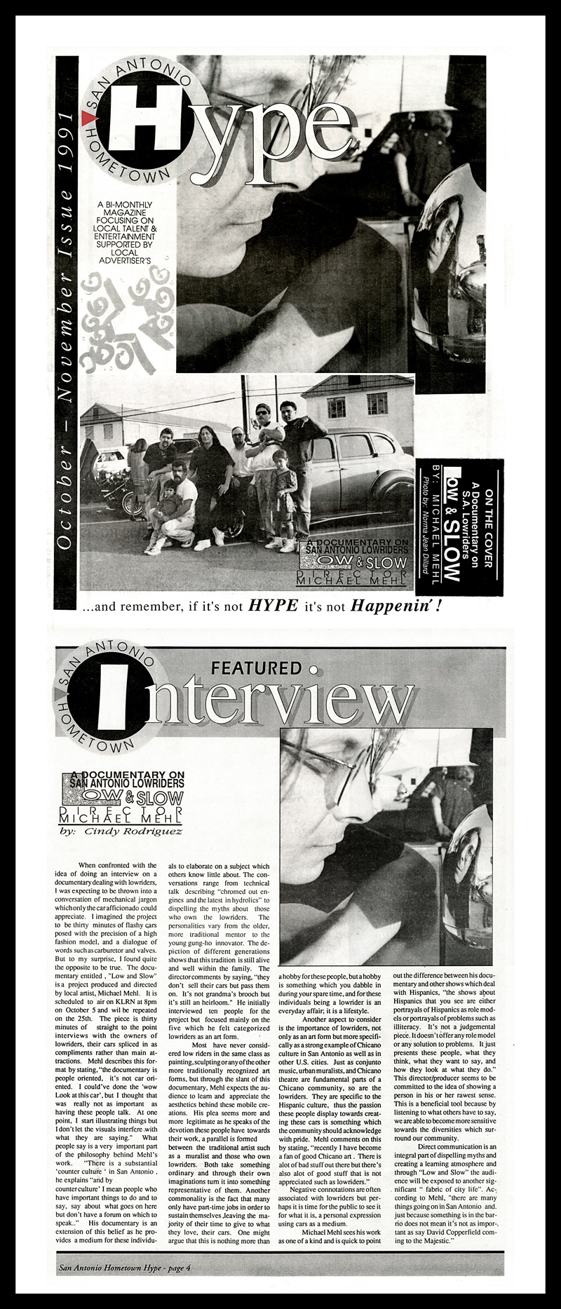 1991_Michael-Mehl_Hype-Magazine_Low-&-Slow-TV-Documentary_Premiere-Public-Screening_Avenida-Guadalupe-Association