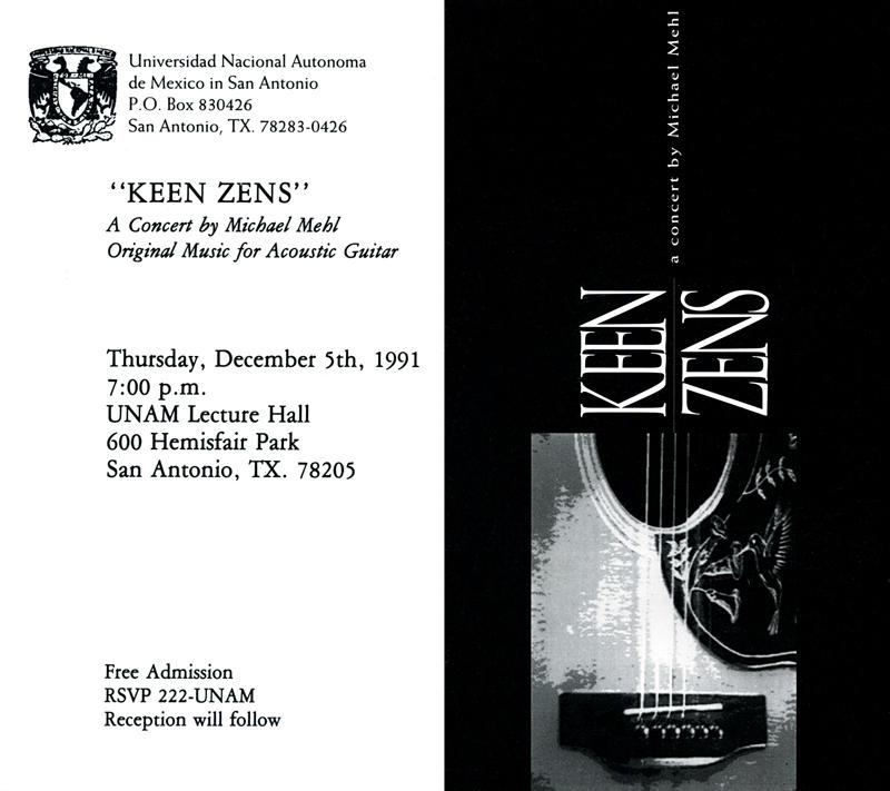 1991_Michael-Mehl_Keen-Zens-Of-Mehl-Concert_UNAM-San-Antonio