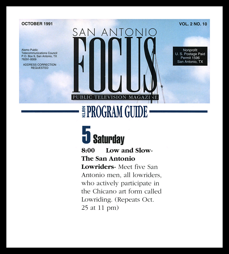1991_Michael-Mehl_Public-Television-Focus-Magazine_Low-&-Slow-TV-Show_KLRN-TV
