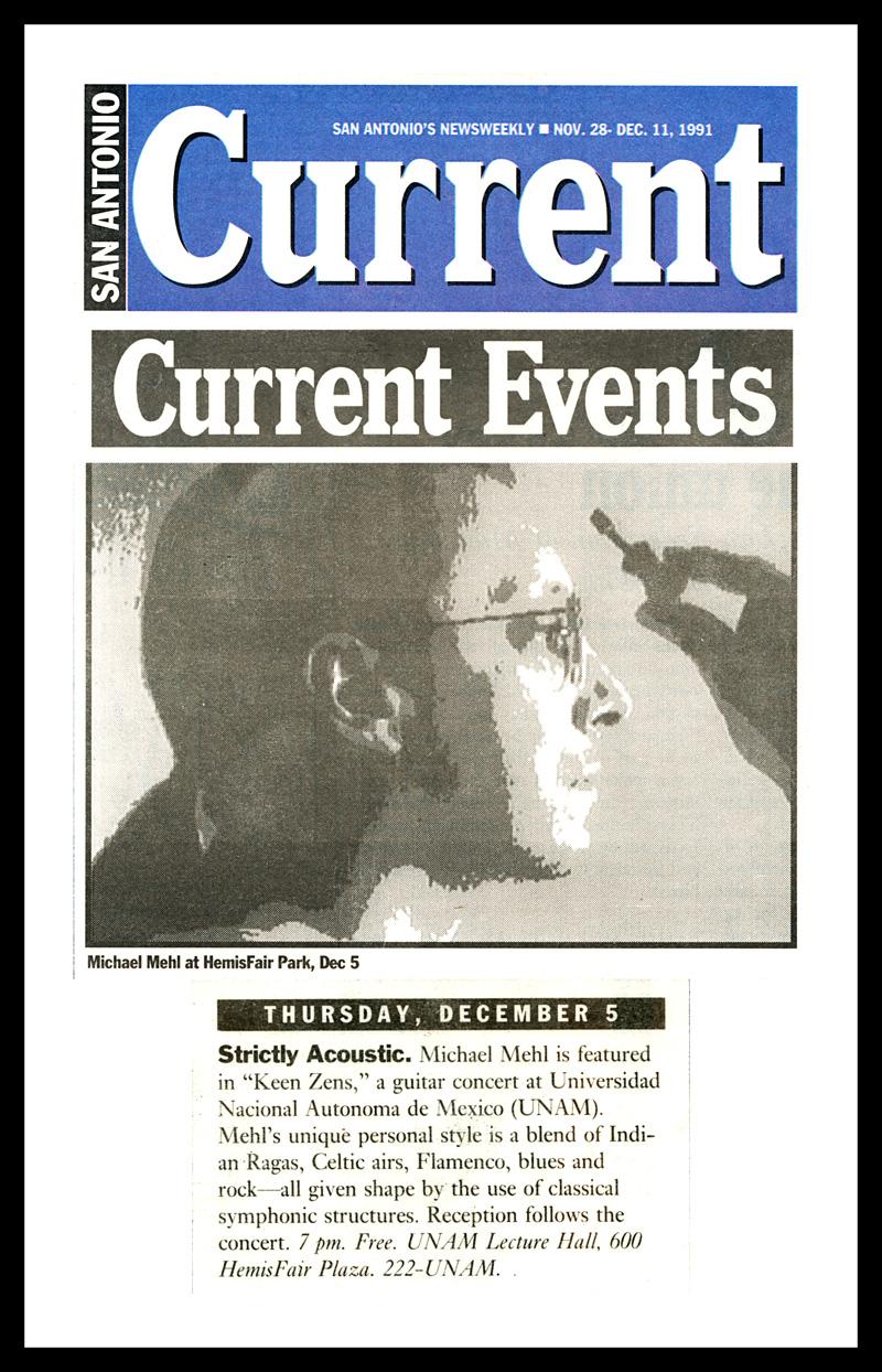 1991_Michael-Mehl_San-Antonio-Current_Keen-Zens-Concert_UNAM-San-Antonio