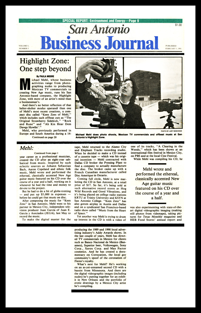 1991_San-Antonio-Business-Journal_Michael-Mehl_Feature-Profile