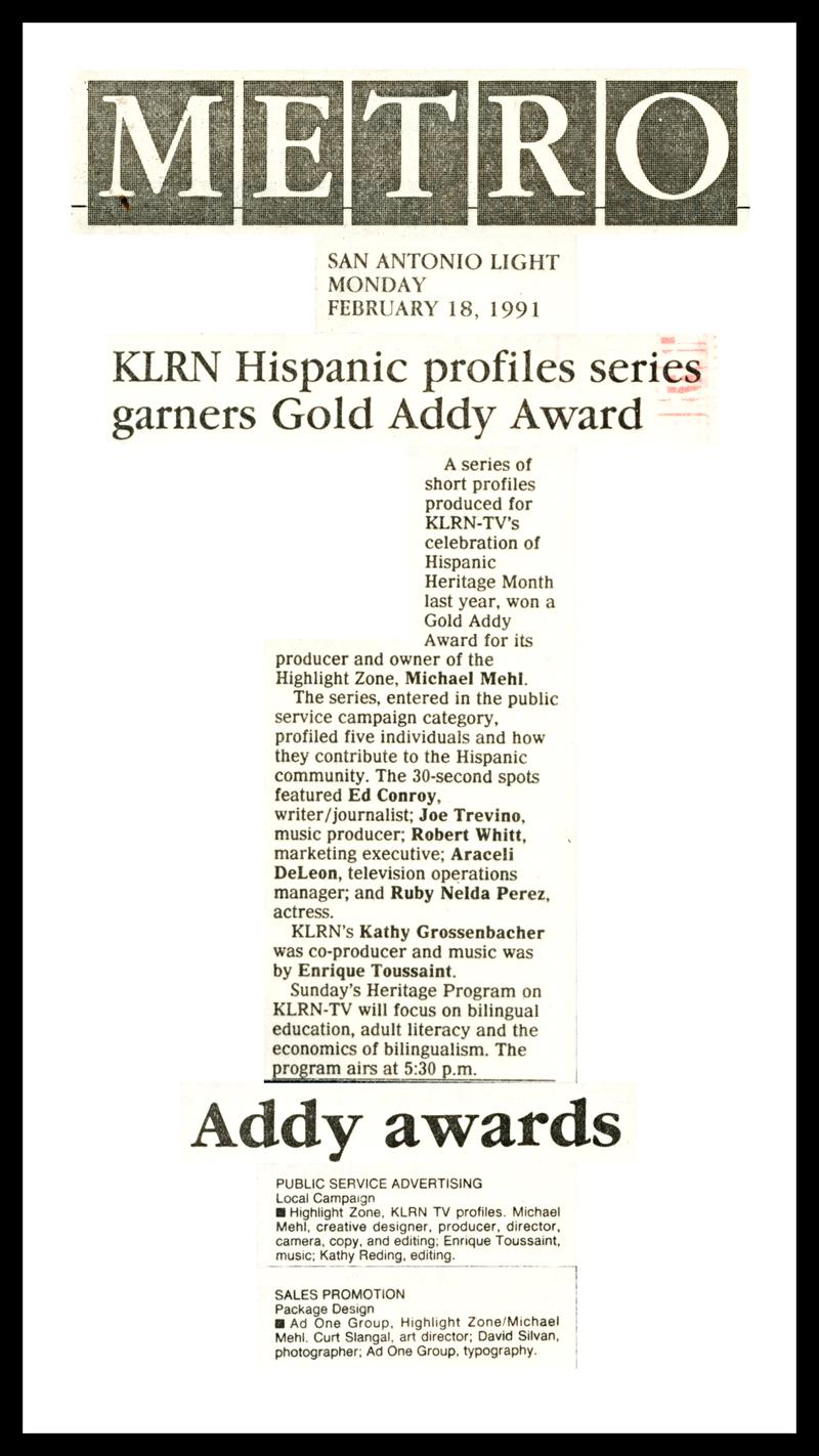 1991_San-Antonio-Light_Michael-Mehl_Addy-Awards
