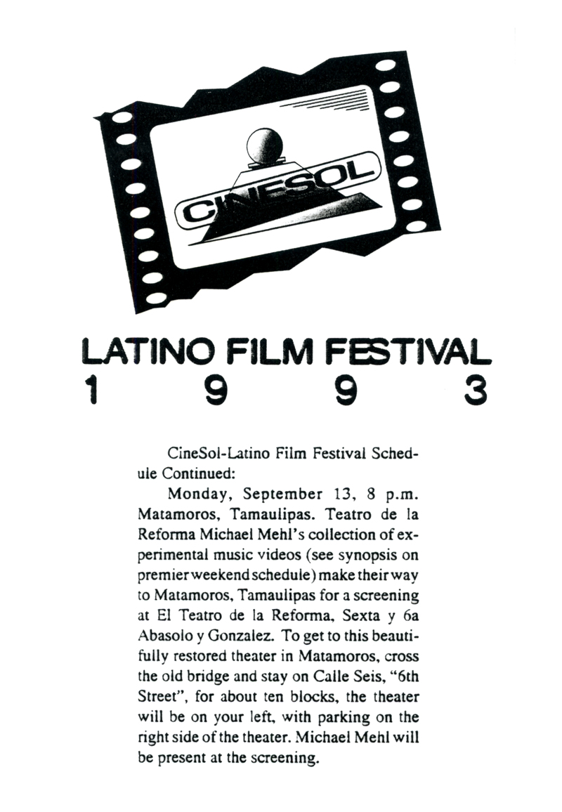 1993_Michael-Mehl_Cine-Sol-Festival_South-Padre-Island-&-Matamoros-Mexico