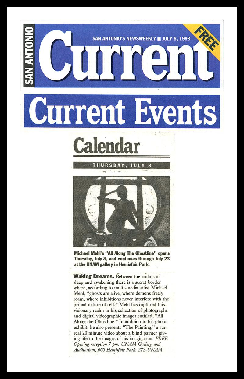 1993_Michael-Mehl_San-Antonio-Current_Ghostline-&-The-Painting_UNAM-San-Antonio