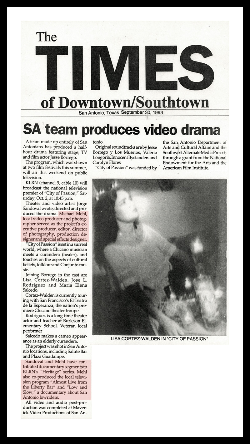 1993_Michael-Mehl_The-Times-Of-Downtown-Southtown_City-Of-Passion-On-KLRN-TV_San-Antonio-TX