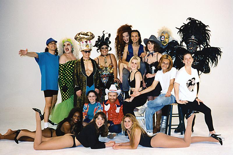 1994_Michael-Mehl_Corny-Rap-Music-Video_With-Jesse-Borrego-Cast-&-Crew-At-Maverick-Studios_San-Antonio-TX