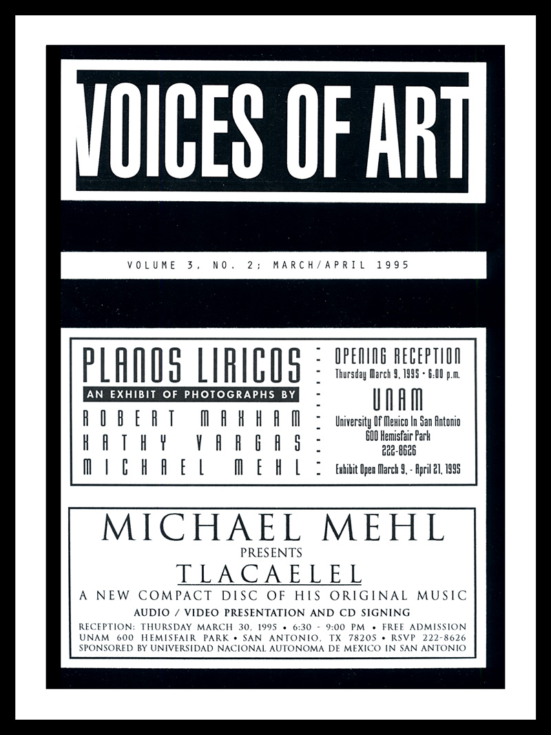 1995_Voices-Of-Art_Michael-Mehl_Planos-Liricos-&-Tlacaelel-Promotional