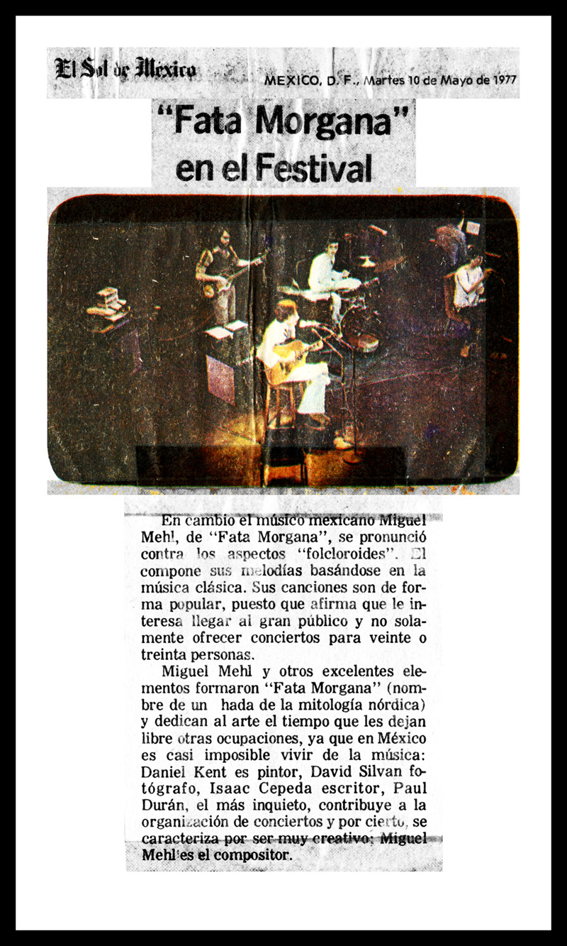 1977_Michael-Mehl_El-Sol-De-Mexico_Fata-Morgana_Quinto-Festival-Cervantino