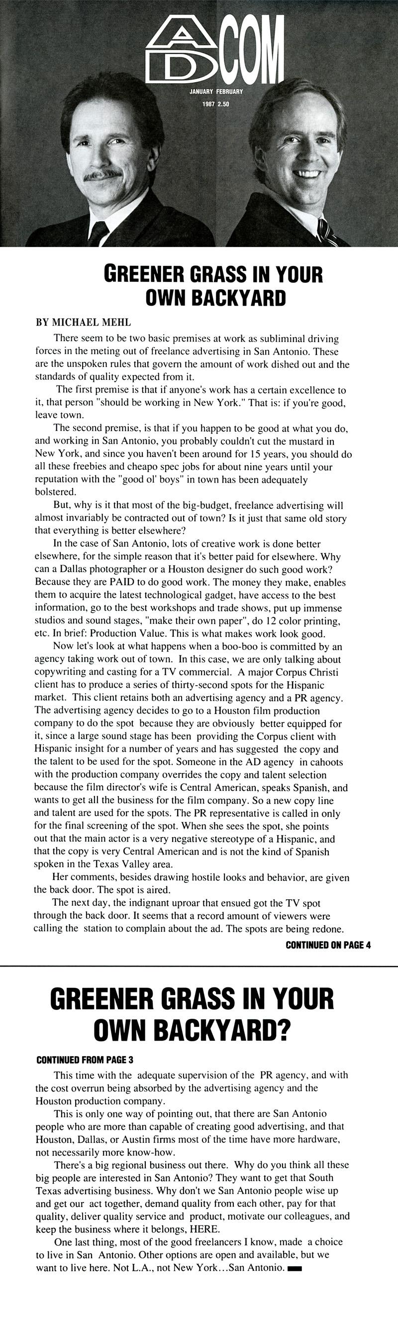 1987_Michael-Mehl_The-Highlight-Zone_Ad-Com-Magazine-Column_01
