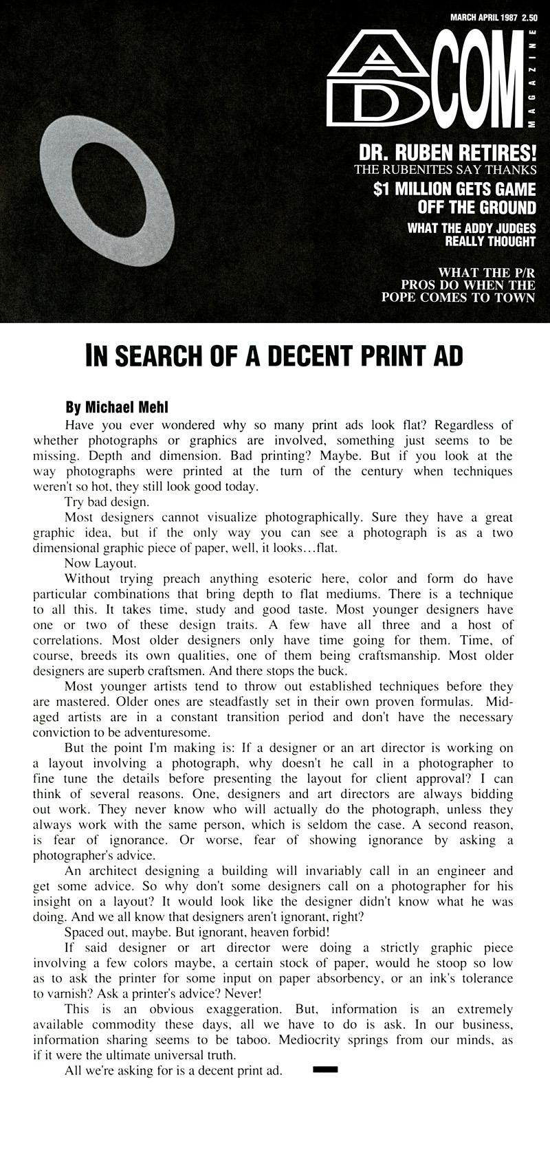 1987_Michael-Mehl_The-Highlight-Zone_Ad-Com-Magazine-Column_02