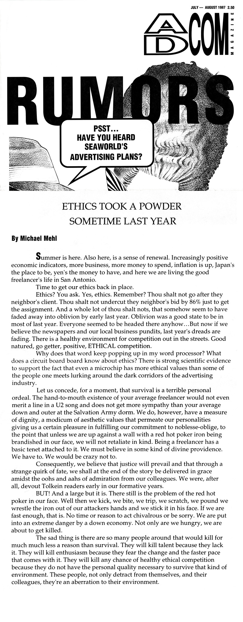 1987_Michael-Mehl_The-Highlight-Zone_Ad-Com-Magazine-Column_03