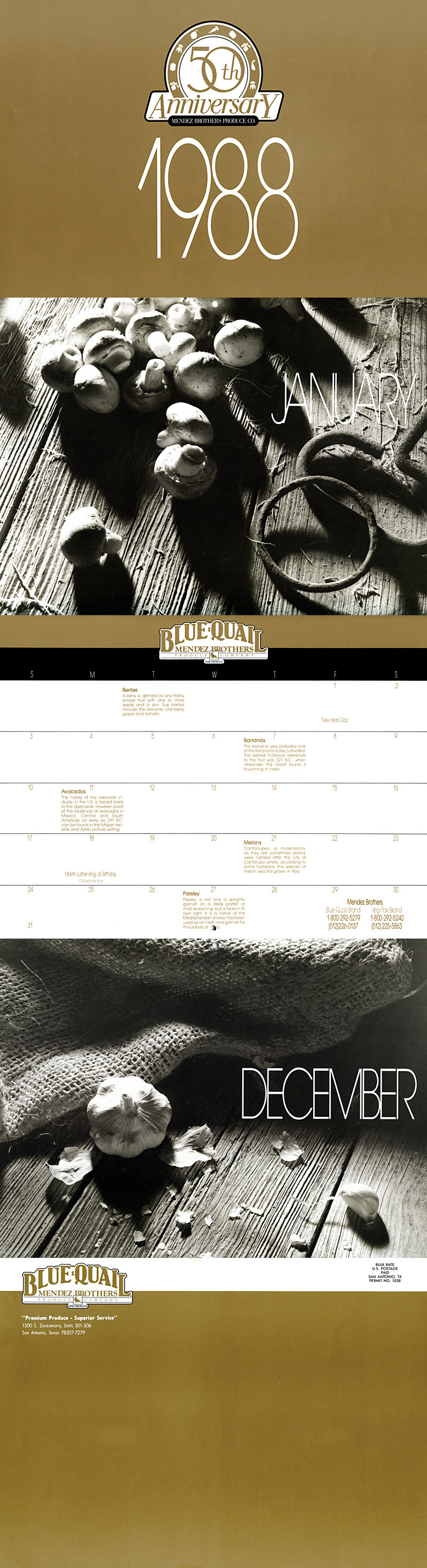 1988_Michael-Mehl_The-Highlight-Zone_Mendez-Brothers-Produce-Calendar