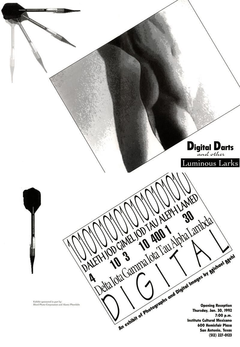 1992_Michael-Mehl_Digital-Darts-And-Other-Luminous-Larks-Exhibit_Instituto-Cultural-De-Mexico