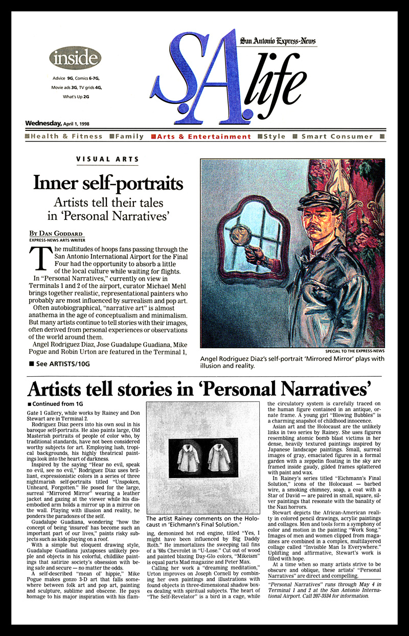 1998_Michael-Mehl_Curator_Personal-Narratives-Exhibit_Airport-Art-Spaces_San-Antonio-Express-News