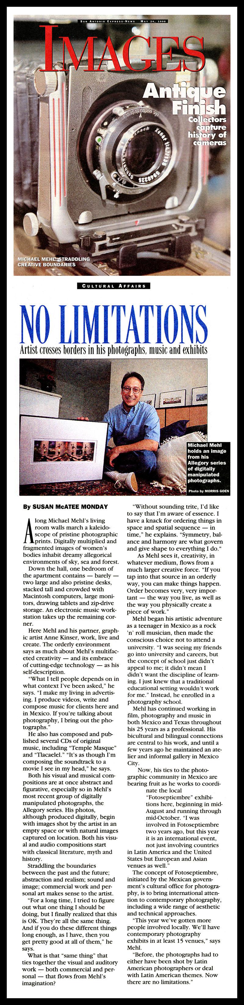 1998_Michael-Mehl_No-Limitations_San-Antonio-Express-News-Images-Magazine