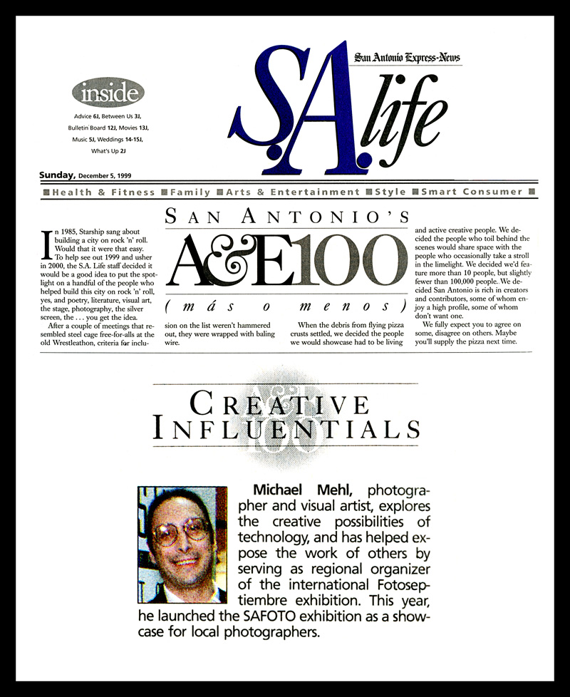 1999_Michael-Mehl_Creative-Influentials_San-Antonio-Express-News
