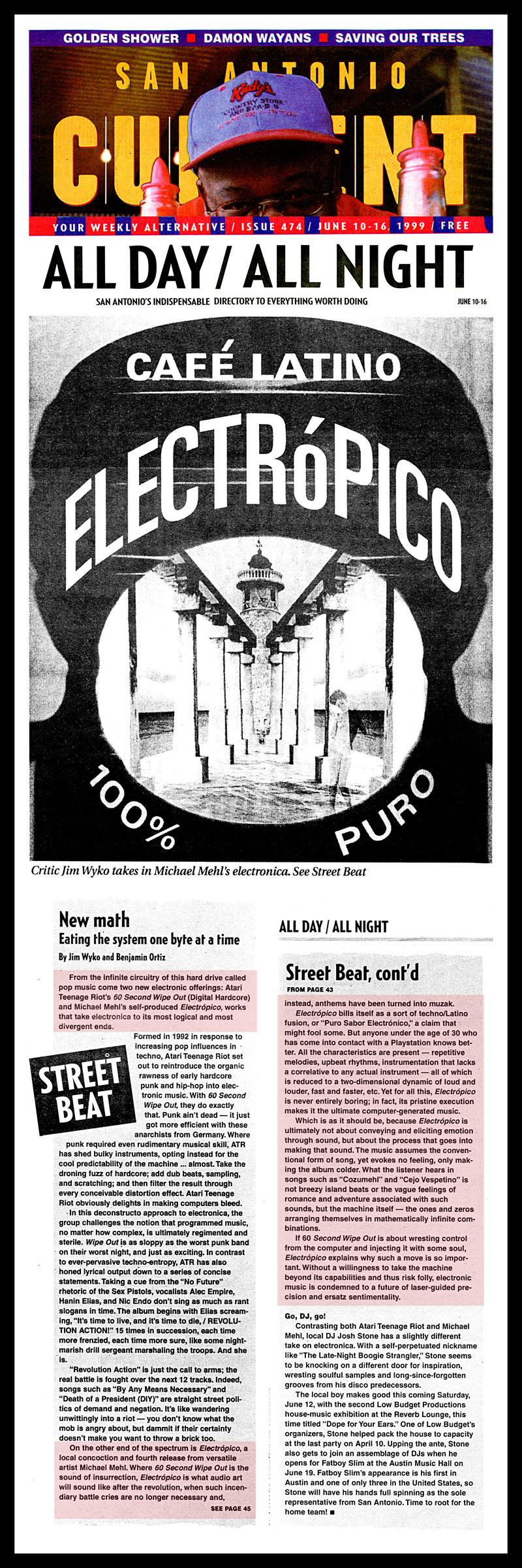1999_Michael-Mehl_Electropico-CD-Review_San-Antonio-Current