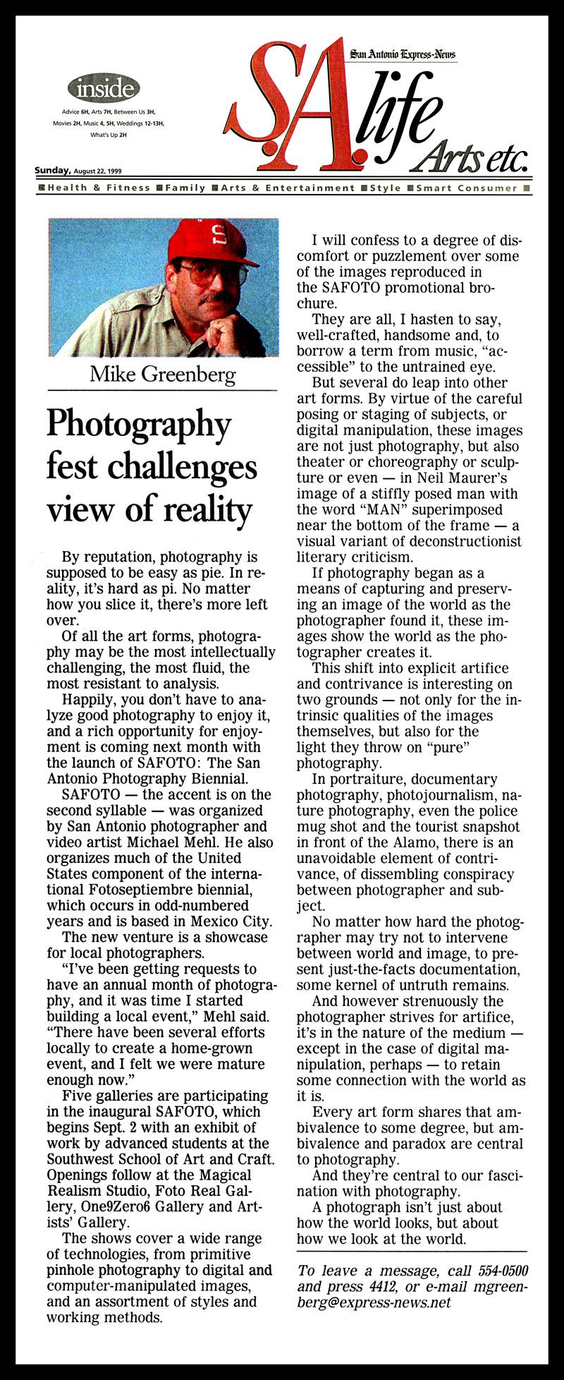 1999_Michael-Mehl_SAFOTO_Mike-Greenberg-Column_San-Antonio-Express-News
