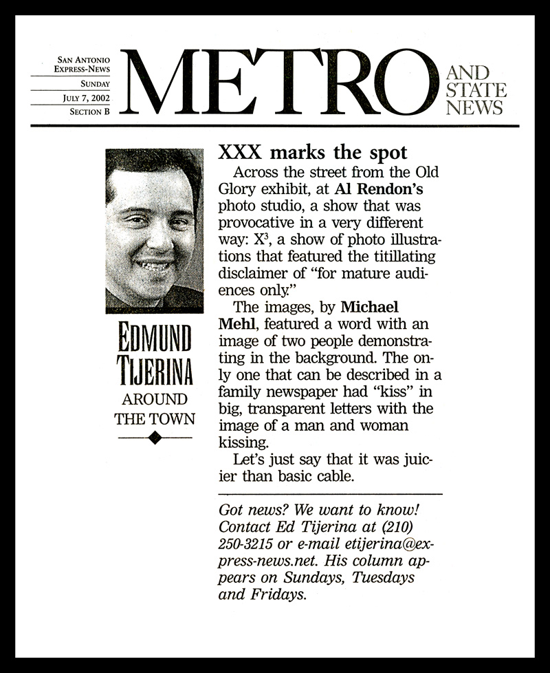 2002_Michael-Mehl_X3-Exhibit_Ed-Tijerina-Column_San-Antonio-Express-News
