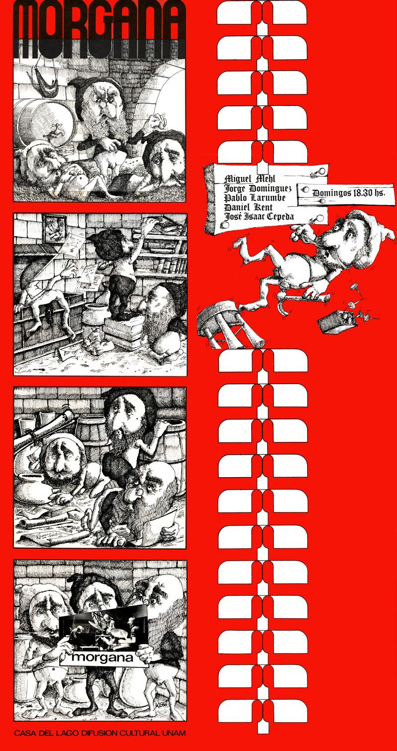 1973_Michael-Mehl_Morgana_Casa-Del-Lago-Concert-Series-Poster_Mexico-City