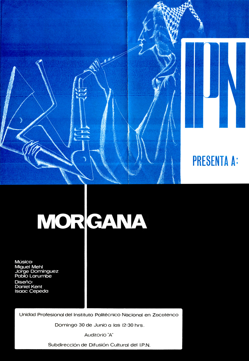 1973_Michael-Mehl_Morgana_Instituto-Politecnico-Nacional-Concert-Invite_Mexico-City