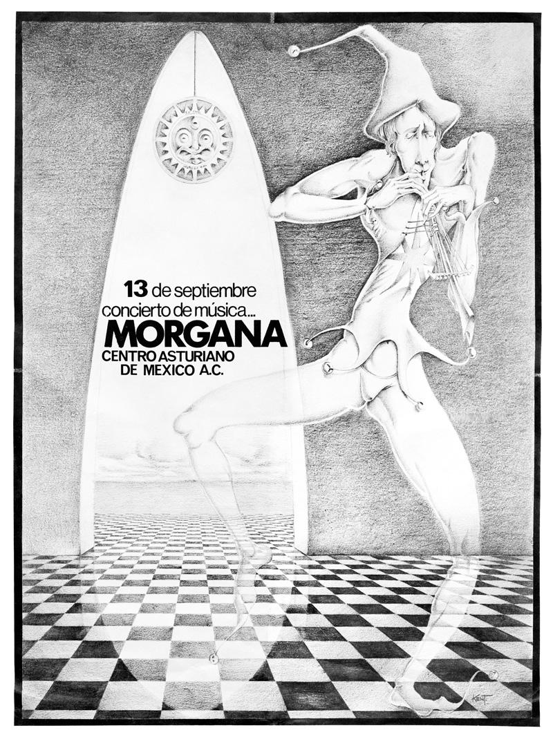 1973_Michael-Mehl_Morgana_Centro-Asturiano-Concert-Poster_Mexico-City