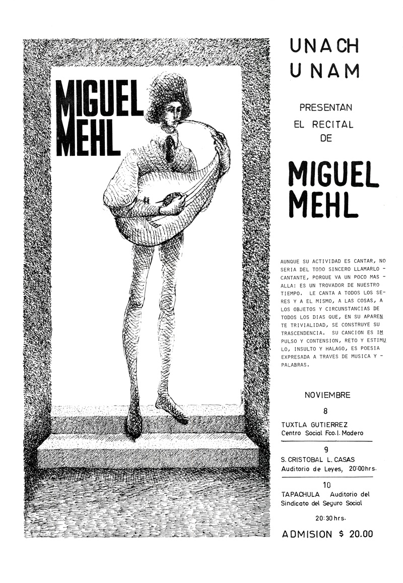 1978_Michael-Mehl_Singer-Songwriter_UNACH-UNAM-Concerts_Chiapas-Mexico