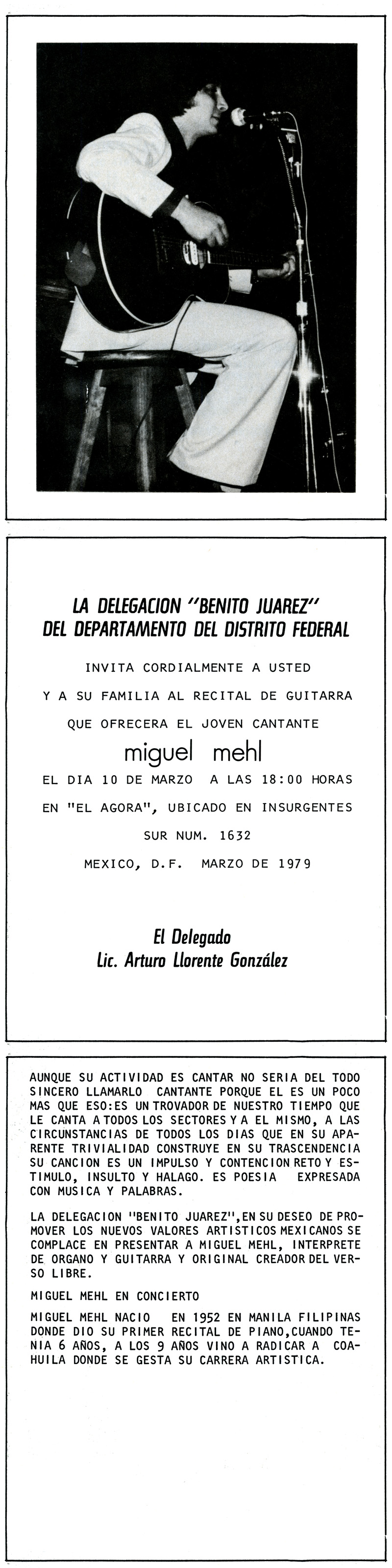 1979_Michael-Mehl_Singer-Songwriter-Concert-Program_Agora_Mexico-City