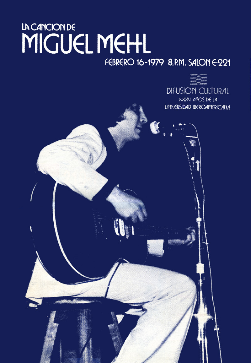 1979_Michael-Mehl_Singer-Songwriter_Universidad-Iberoamericana-Concert-Poster_Mexico-City