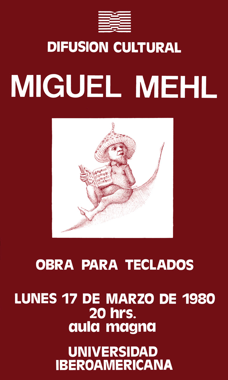 1980_Michael-Mehl_Keyboards-Concert-Poster_Universidad-Iberoamericana_Mexico-City
