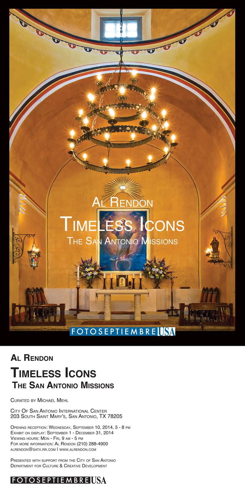 Michael-Mehl_Curator_FOTOSEPTIEMBRE-USA_Timeless-Icons-Exhibit_City-Of-San-Antonio-International-Center_Promotional-Card